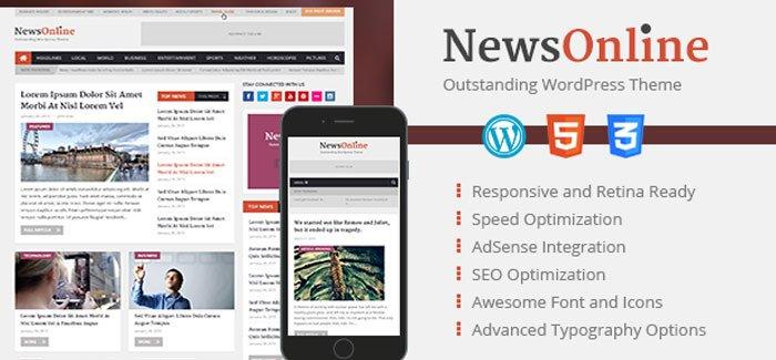 NewsOnline WordPress Theme