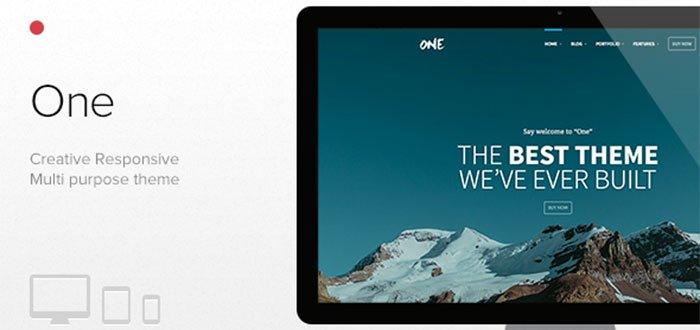 One - The Creative Multipurpose Portfolio theme