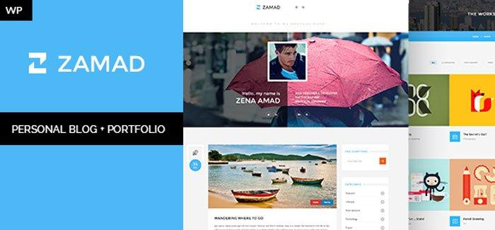 Zamad Personal Blog Portfolio WordPress Theme