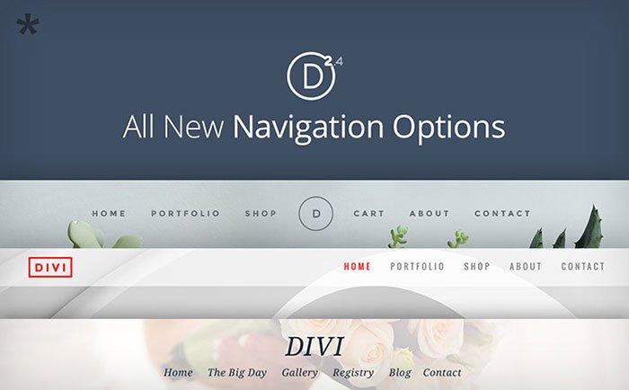 divi 2-4 headers layouts