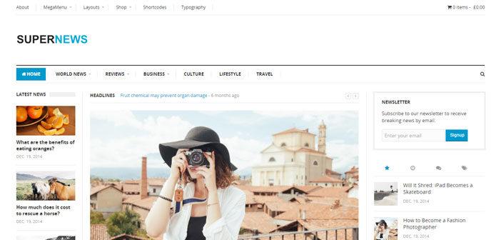 SuperNews – A Flexible and Super Multi-purpose WordPress Theme