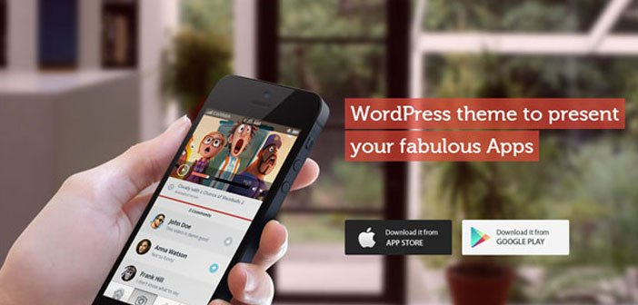 10 Attractive WP Themes To Showcase iOS & Android App