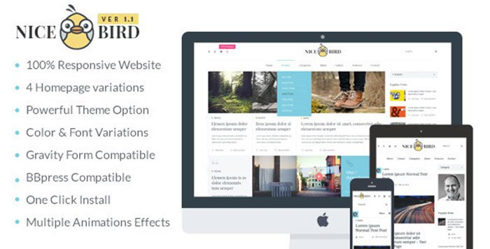 NiceBird- WordPress Blog Themes