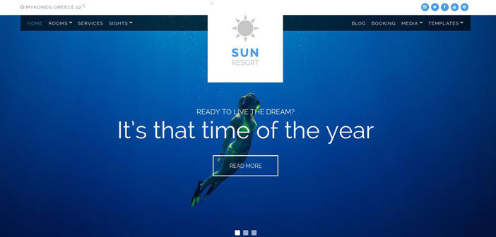 Sun Resort – A Next Generation Hotel WordPress Theme