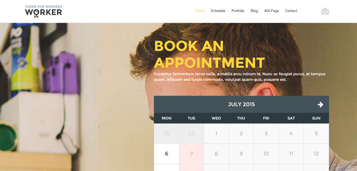 Worker – A Beautiful Small Business Booking WordPress Theme