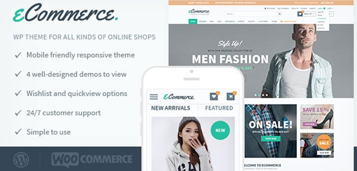 eCommerce – A WordPress Theme for All Kind of Online Shops