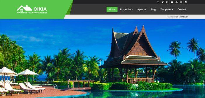 Oikia – A Modern and Beautiful Real Estate WordPress Theme