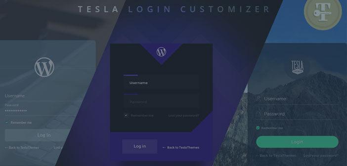 Tesla Login Customizer – Easily Customize WordPress login page