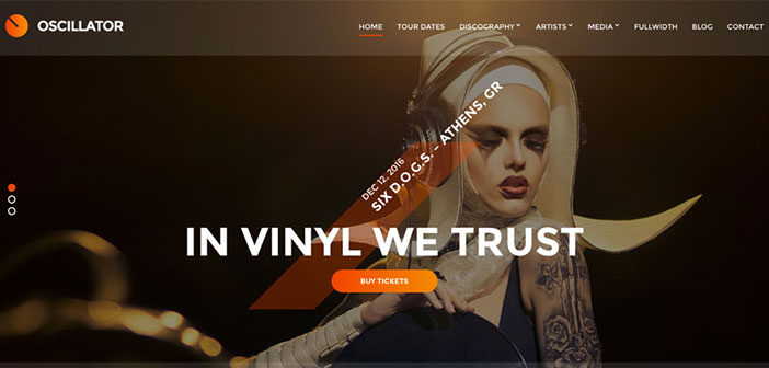 Oscillator – An Awesome Music WordPress theme
