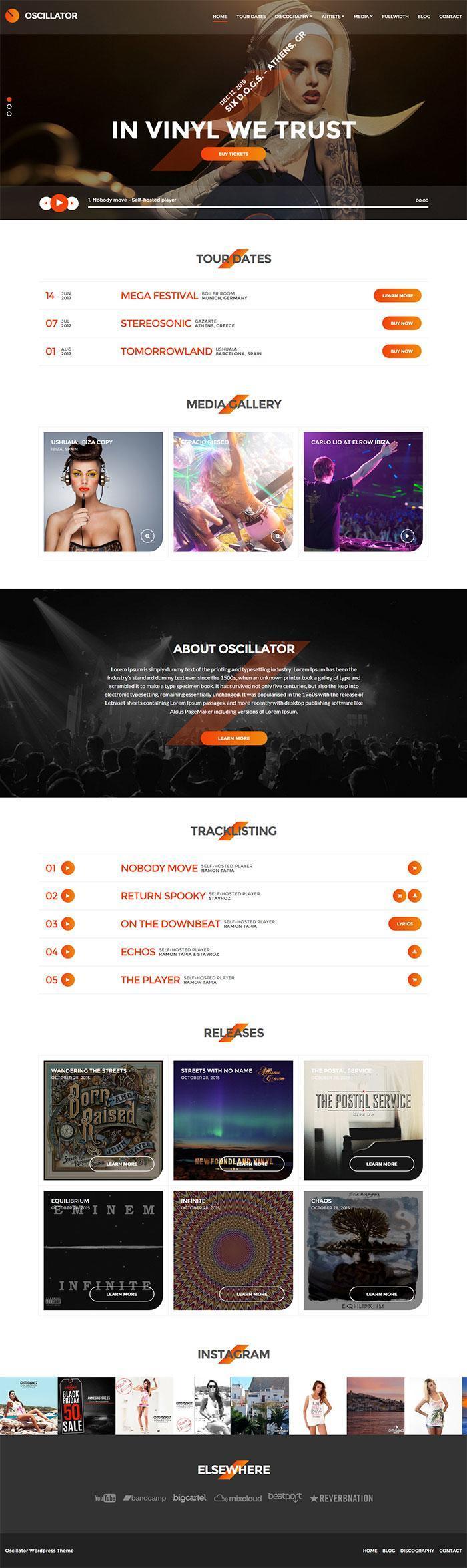 Oscillator WordPress Theme