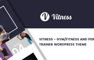 Vitness – Gym / Fitness & Personal Trainer WordPress Theme