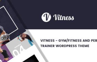 Vitness – Gym / Fitness & Personal Trainer WordPress Theme