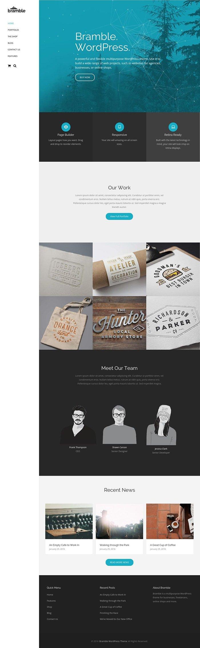 Bramble WordPress Theme Themetrust