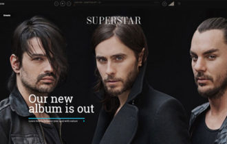 Superstar – An Awesome Music Band WordPress Theme