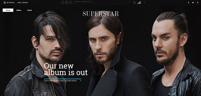 Superstar – An Awesome Music Band WordPress Theme