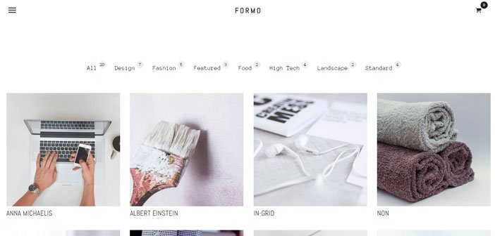 Formo – A Minimalist and Modern Portfolio WordPress Theme