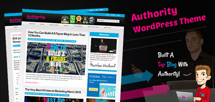 Authority – A Highly Optimized Blog WordPress Theme