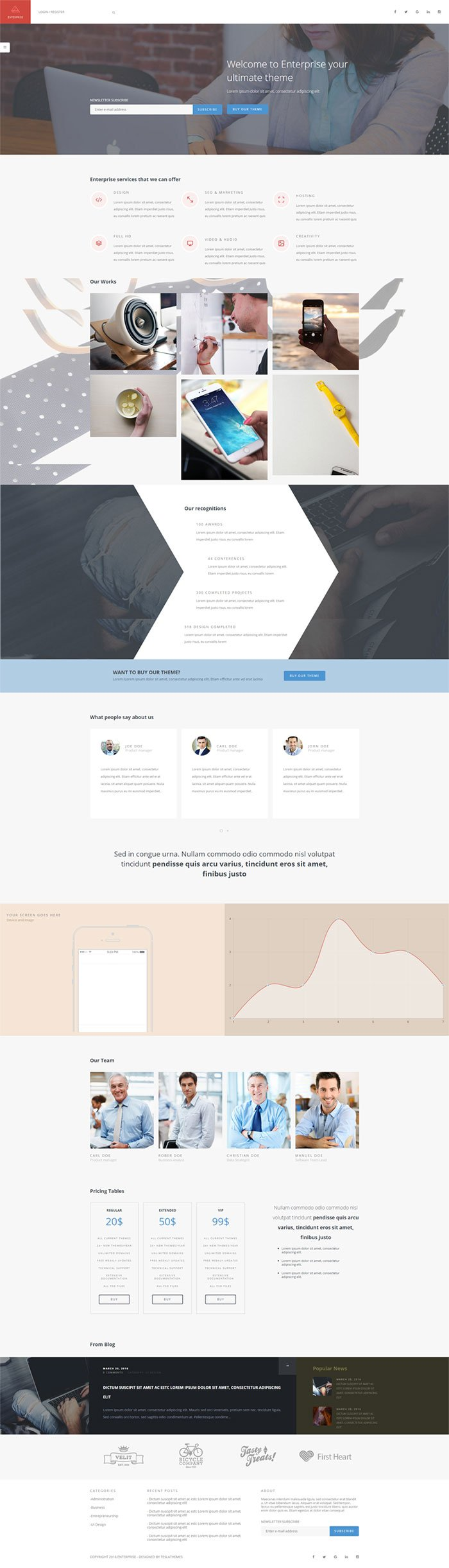 Enterprise - A Multipurpose Corporate WordPress Theme