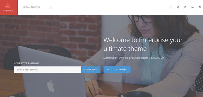 Enterprise – A Multipurpose Corporate WordPress Theme