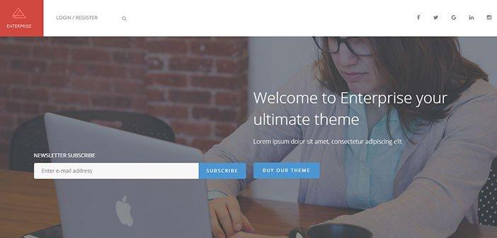 Enterprise – A Multipurpose Corporate WordPress Theme