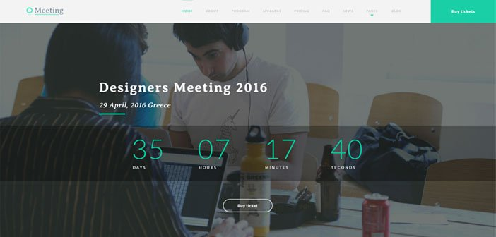Meeting – A One-page Event WordPress Theme