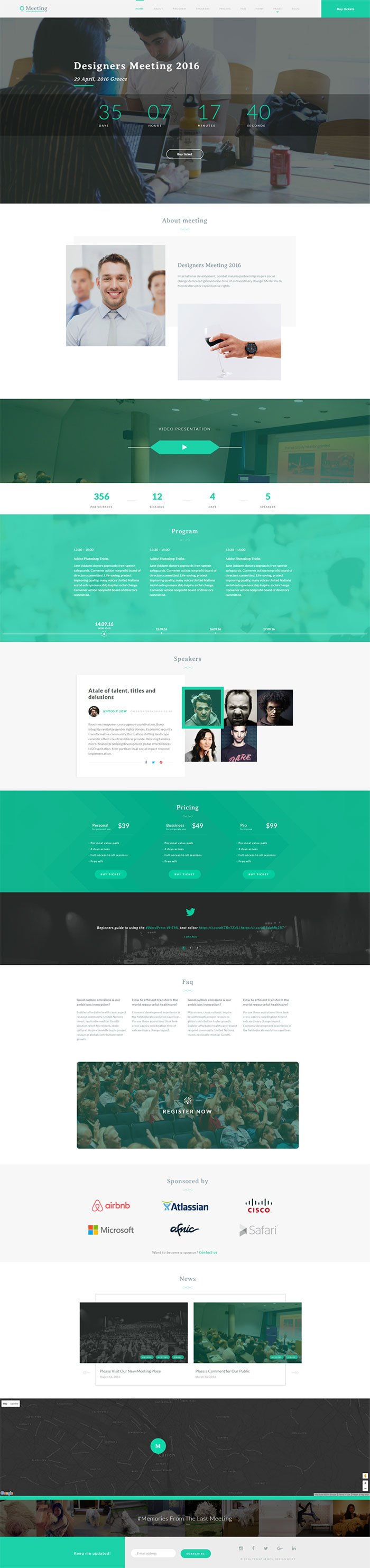 Meeting WordPress Theme TeslaThemes