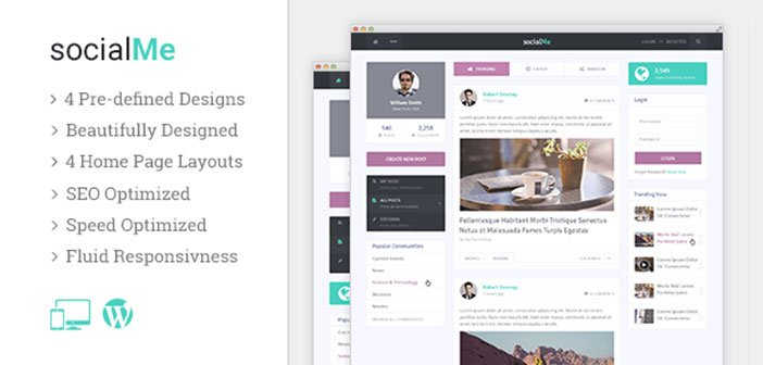 SocialMe – Impress Visitors With a Powerful & Fast Social Site