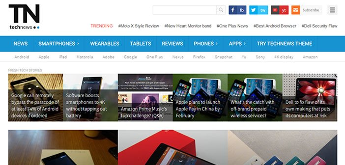 TechNews – A Modern Technology Blog WordPress Theme