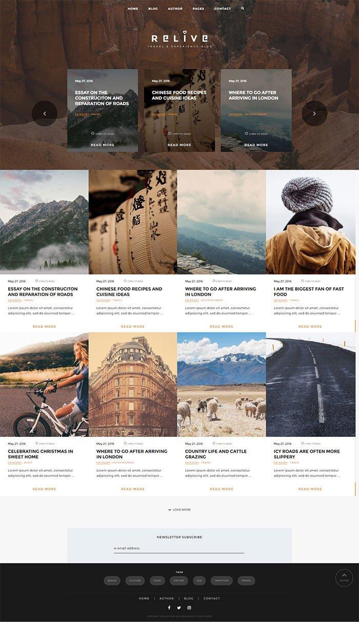 Relive WordPress Theme TeslaThemes
