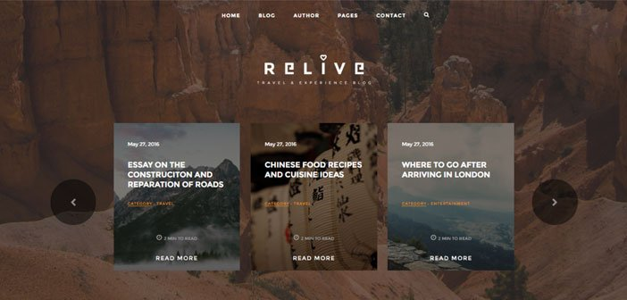 Relive – A Stunning Storytelling Blog WordPress Theme