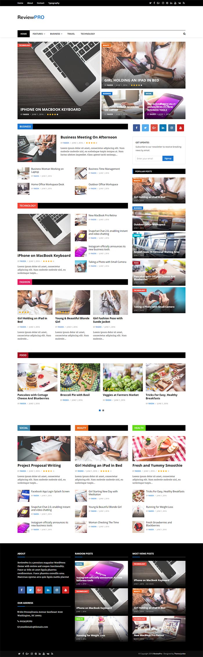 ReviewPro – A Professional Blog / Magazine WordPress Theme