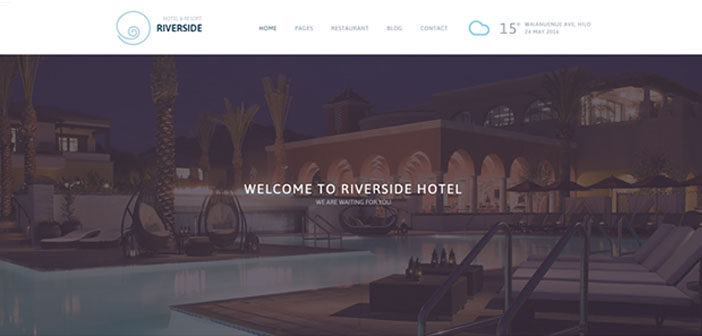Riverside Resort – A Professional Hotel & Resort WordPress Theme
