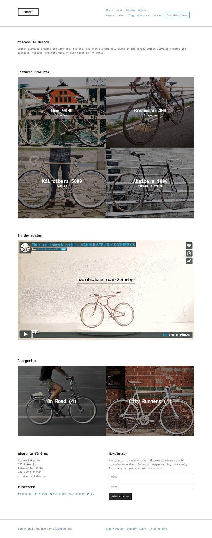 Suisen WordPress Theme