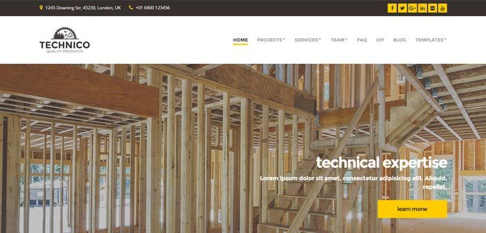 Technico – Responsive WordPress Theme for Construction Companies