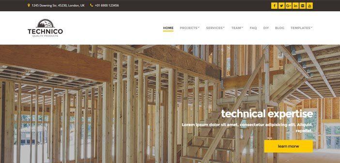Technico – Responsive WordPress Theme for Construction Companies