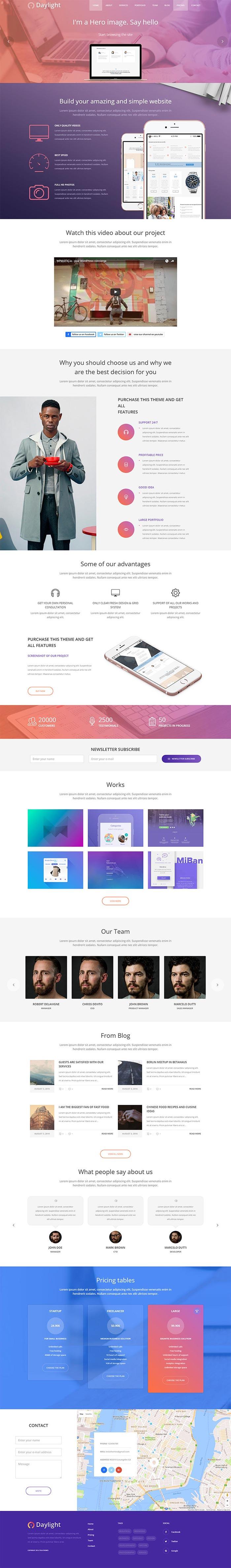 Daylight Multipurpose Business WordPress Theme