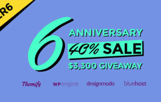 Themify Super 6th Anniversary – 40% Off Sale + Giveaway