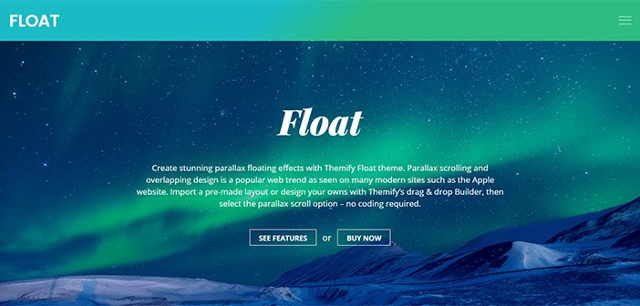 Float – The Parallax Floating Effects WordPress Theme