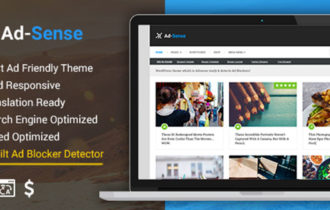 Ad-Sense – Best WordPress Blog Theme For Earning More From Ads