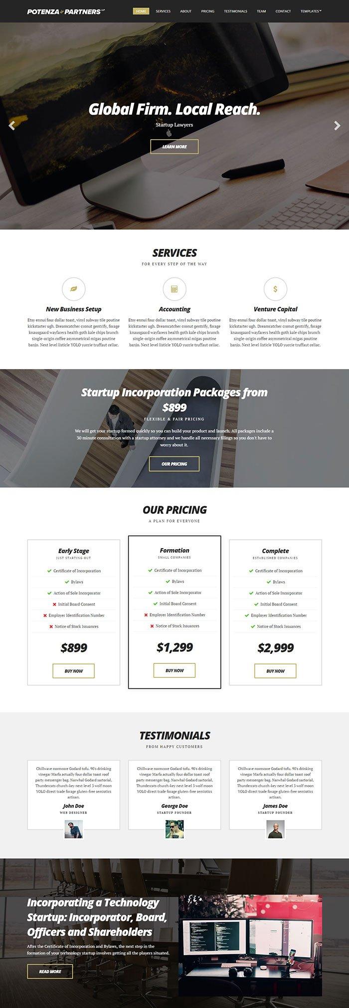 Potenza-Business-WordPress-Theme