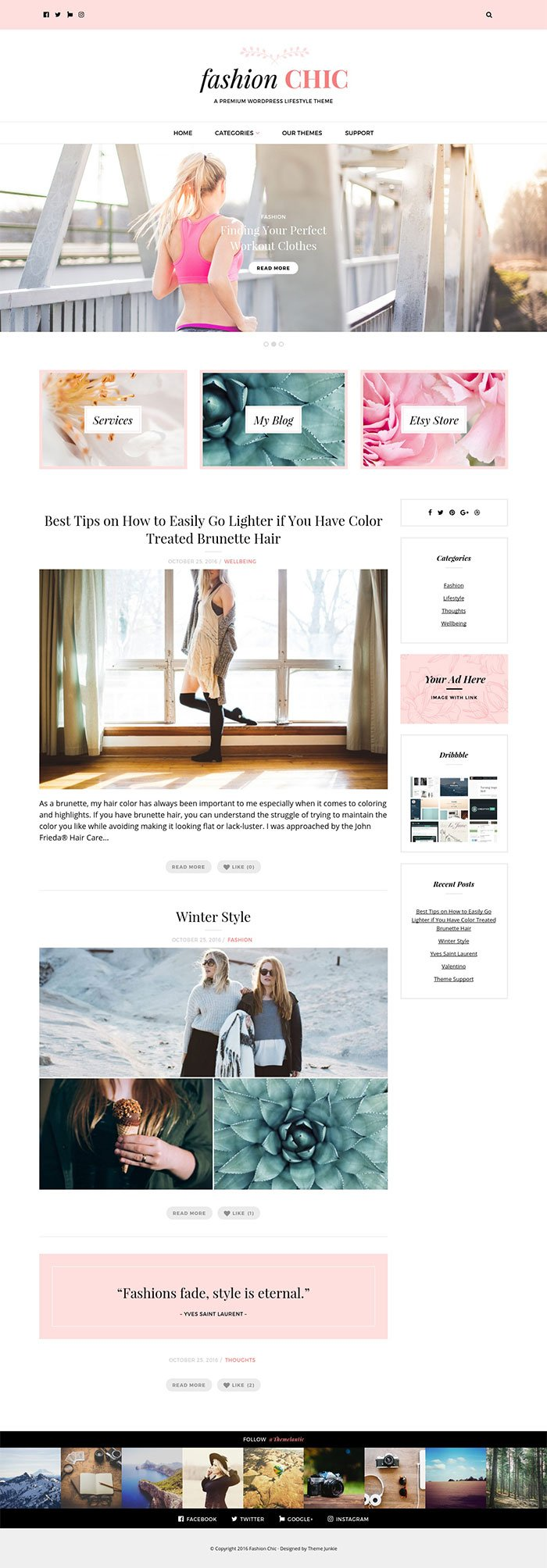Fashion Chic A Stunning Fashion and Lifestyle Blog WordPress Theme