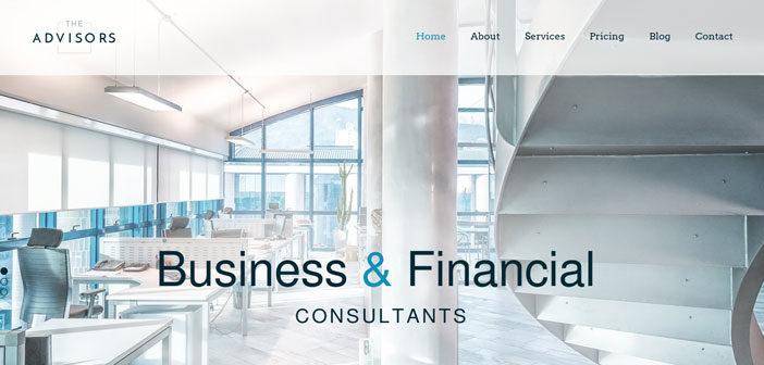 The Advisors – A Stylish and Professional Business WordPress Theme