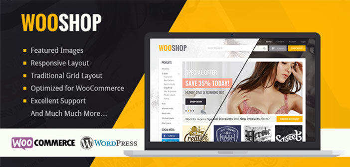 WooShop – A Beautiful WooCommerce WordPress Theme