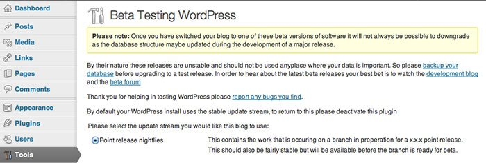 wordpress-beta-tester