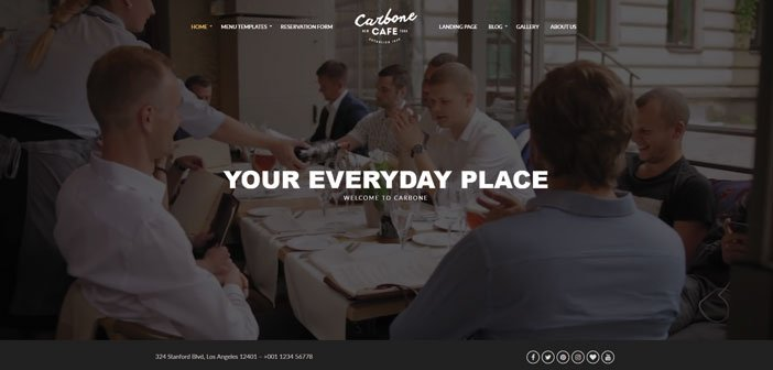 Carbone – A Modern Cafe / Bar / Restaurant WordPress Theme