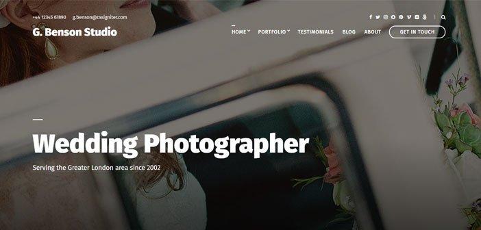 Benson – A Professionally Crafted Portfolio WordPress Theme