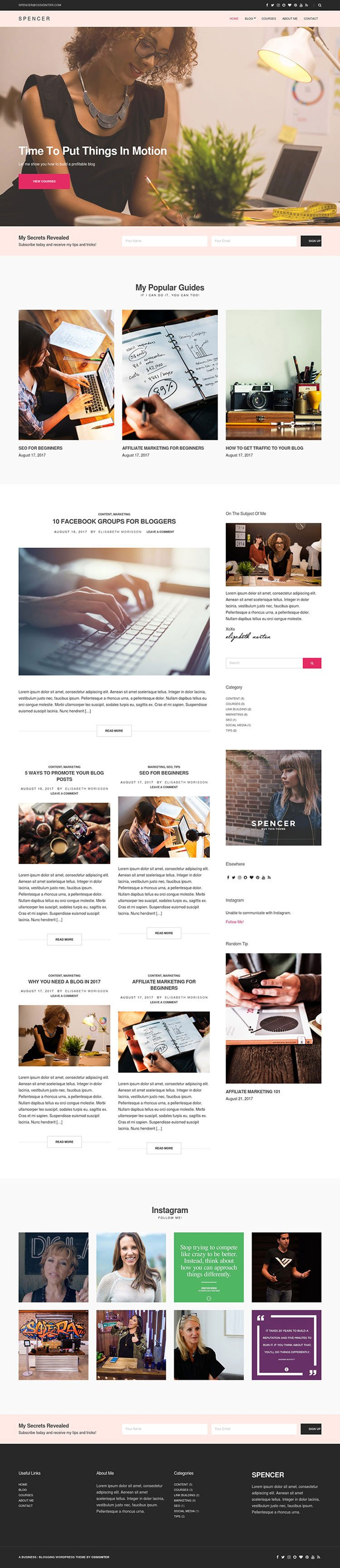 Spencer-A-Beautiful-Blog-WordPress-Theme