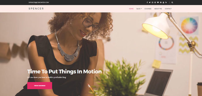 Spencer – A Beautiful Blog WordPress Theme for Entrepreneurs