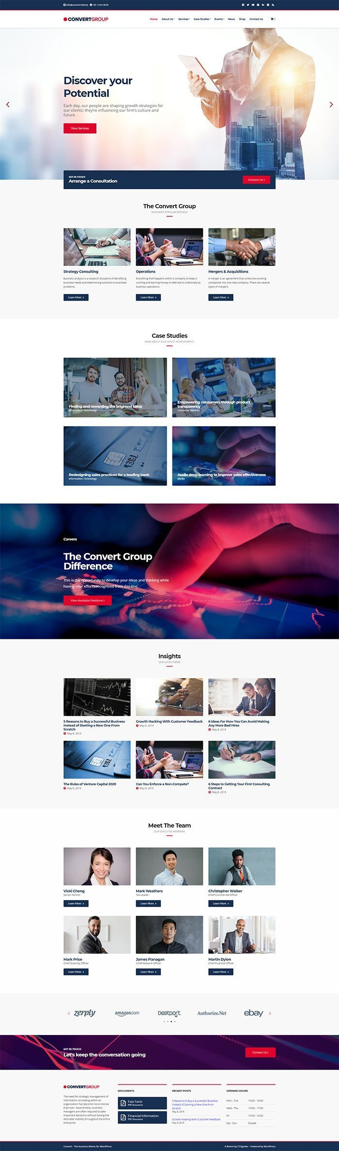 Convert - A professional business WordPress theme