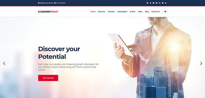 Convert – A professional business WordPress theme